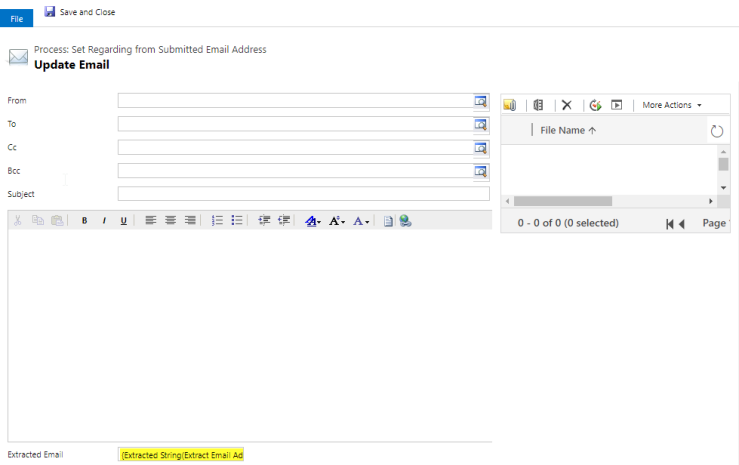 Update Extracted Email Step